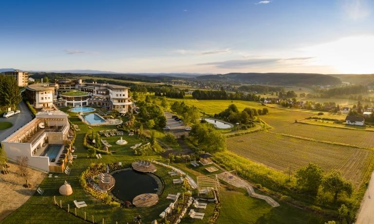 Panorama Ansicht vom Larimar Gartenparadies