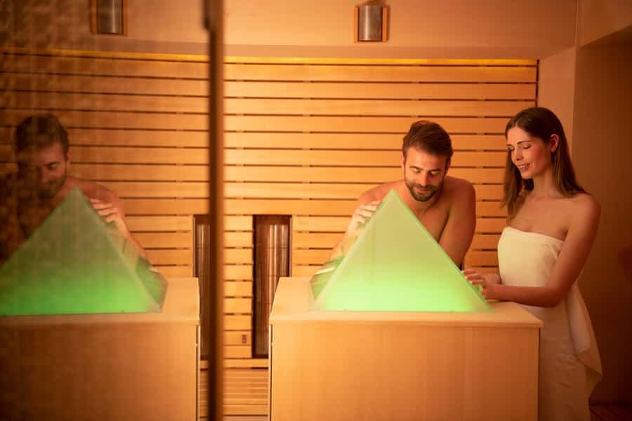 Infrarotsauna mit Lichtbad