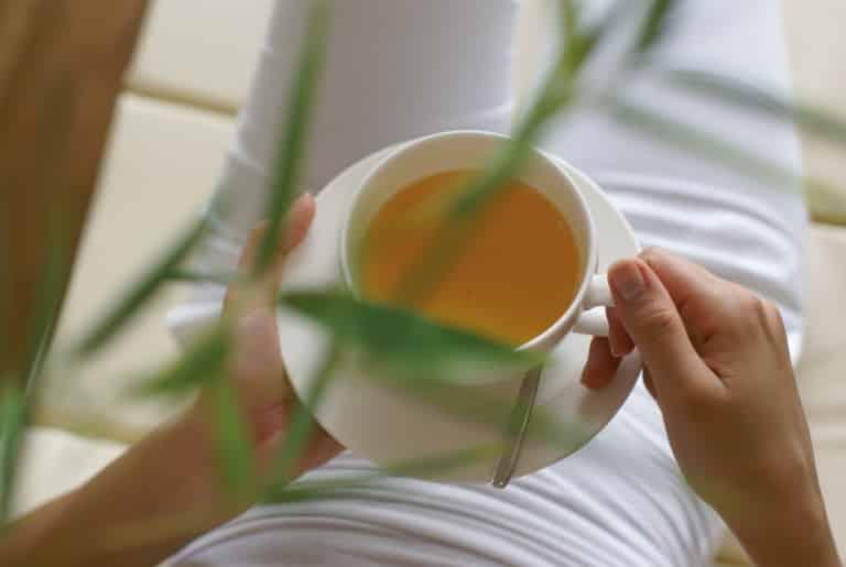 Tee im Ruheraum genießen