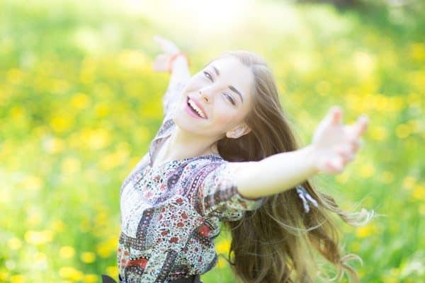 Mädchen mit Lebensenergie