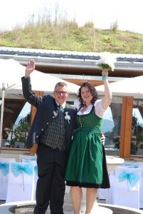 Manuel und Corinna Strobl gaben sich am 8. August 2015 im Larimar das Jawort.