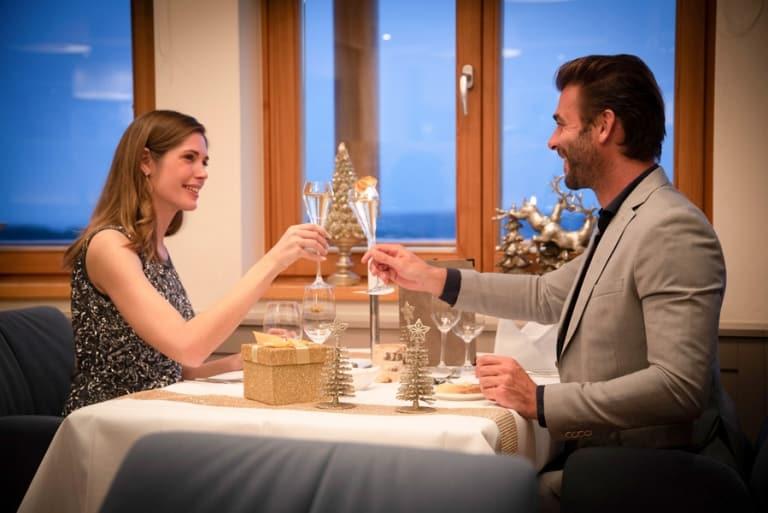 Abendessen zu Weihnachten im Burgenland