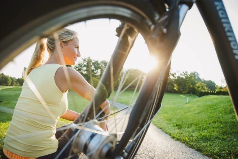 Beim Radfahren mit allen Sinnen das Paradies genießen