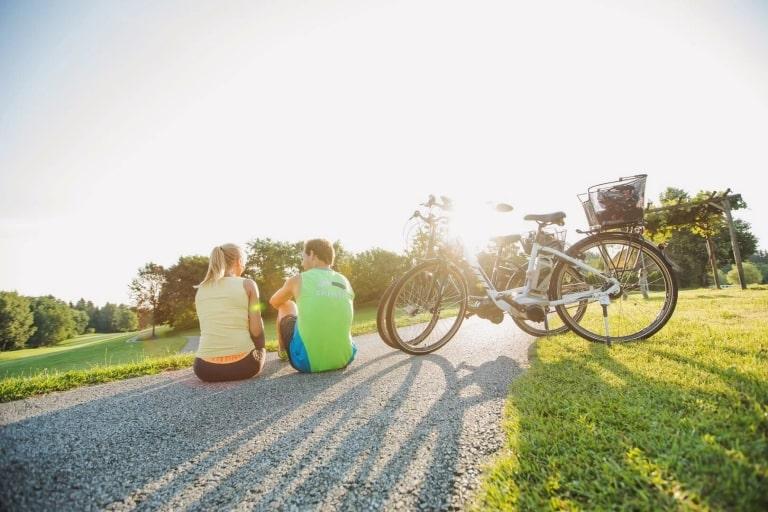 Aktiv Radfahren im Sommer