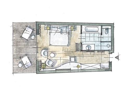 Doppelzimmer Thermenetage Zimmer Skizze