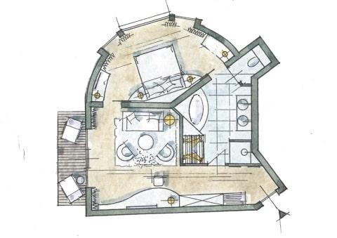 Larimar-Suite Zimmer Skizze